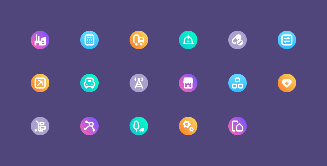 Debitum Network Industry Icons