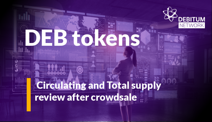 Deb token total and circulation